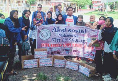 STIT Bolmong Gelar Aksi Sosial untuk Korban Gempa Mamuju